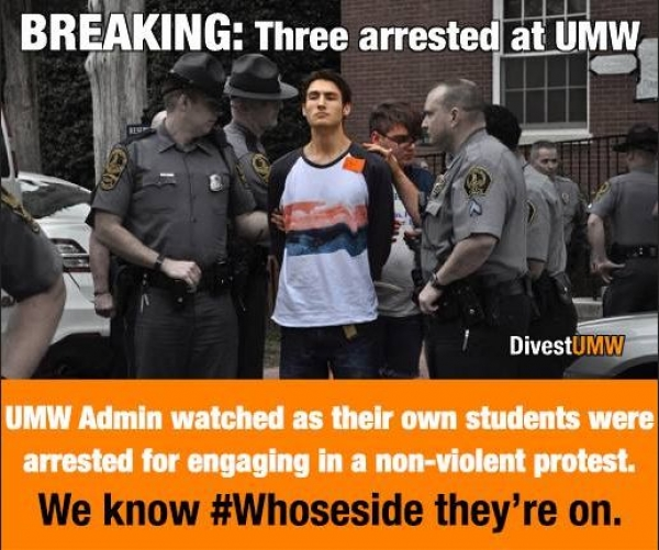 UPDATE: 3 arrested during Divest UMW sit-in released (with videos)