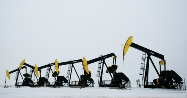Oil operations in Williams County, North Dakota.