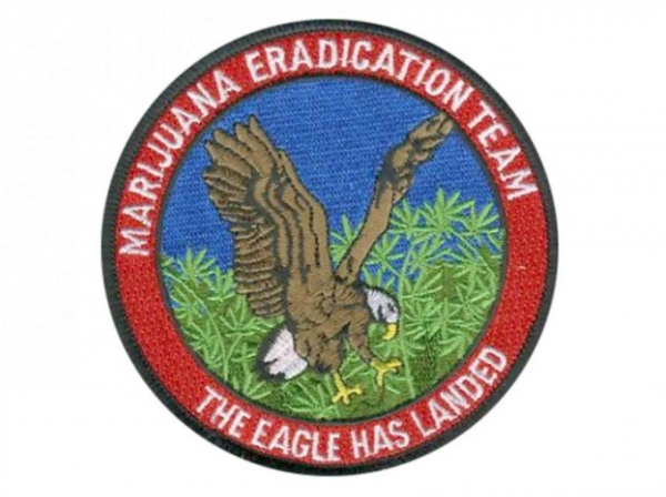 Marijuana eradication program patch.