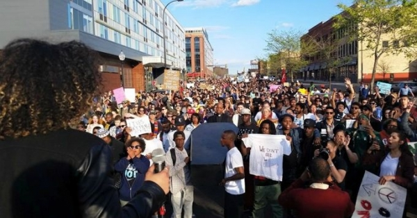 The crowd at the Baltimore solidarity action Minneapolis was estimated at between 1,500-2,000.